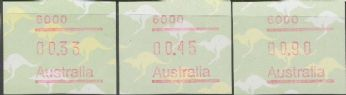 Australian Framas: Kangaroo Button Set Postcode 6000: 33c cyclinder join 2nd printing